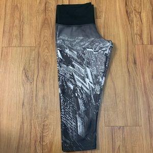 Adidas Techfit Black & White Cropped Leggings